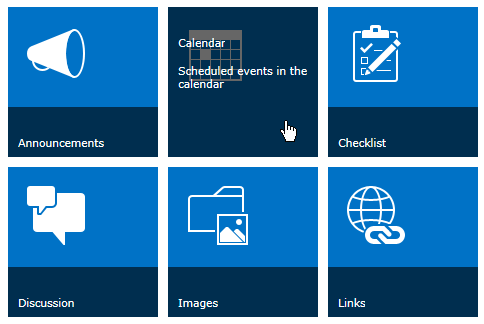 Sharepoint promoted links tile size