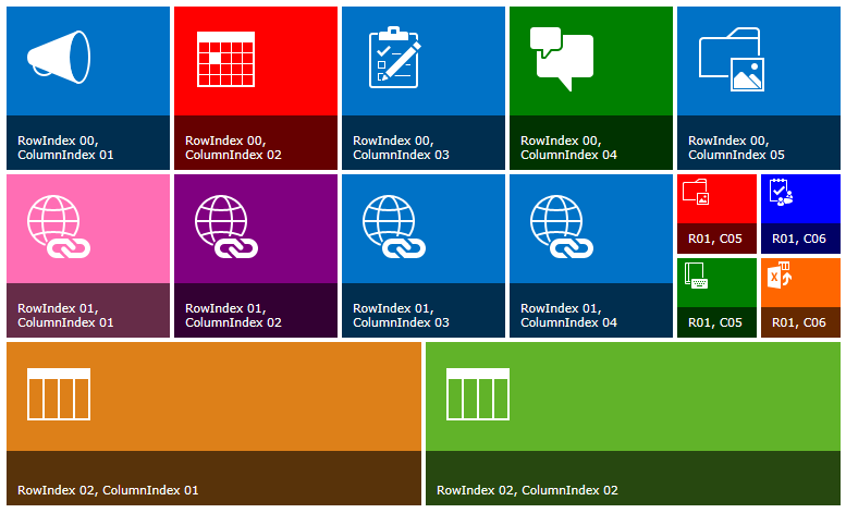 SharePoint 2013 style tiles: Change the size and color of